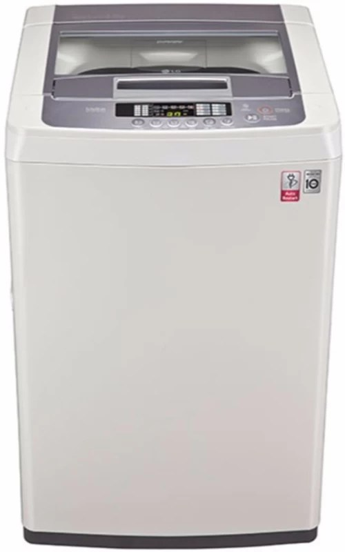 LG 6.2 kg Fully Automatic Top Load Washing Machine White, Silver(T7269NDDL)