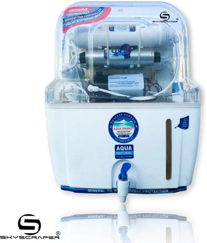 Aquagrand Plus Freedom + 15 L RO + UV Water Purifier(White)
