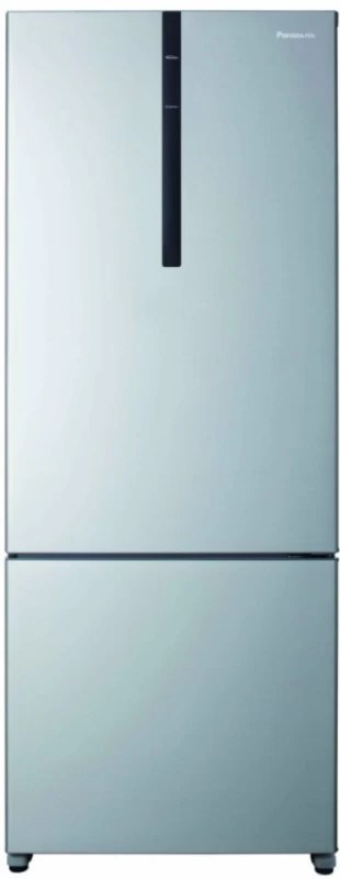 Panasonic 450 L Frost Free Double Door Bottom Mount Refrigerator(Shining Silver, NR-BX468VSX1)