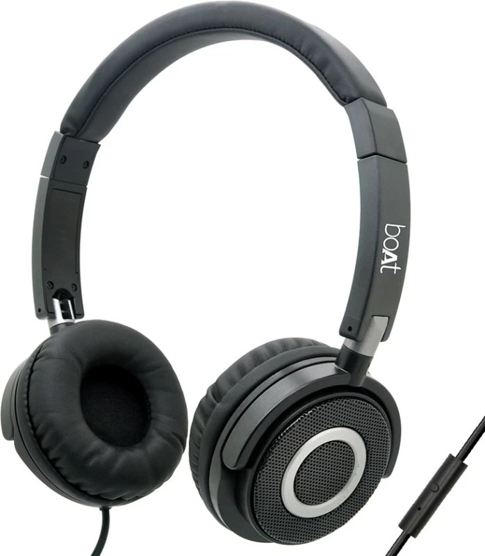 boAt BassHeads 900 Headset with Mic(Black, Over the Ear)