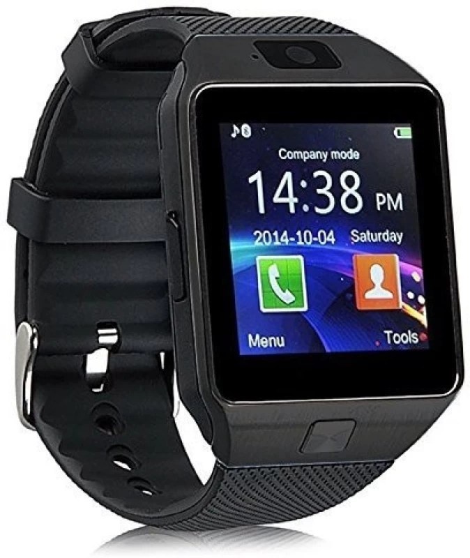 Outsmart WS04 with SIM card, 32GB memory card slot, Bluetooth and Fitness Tracker Black Smartwatch(Black Strap Regular)
