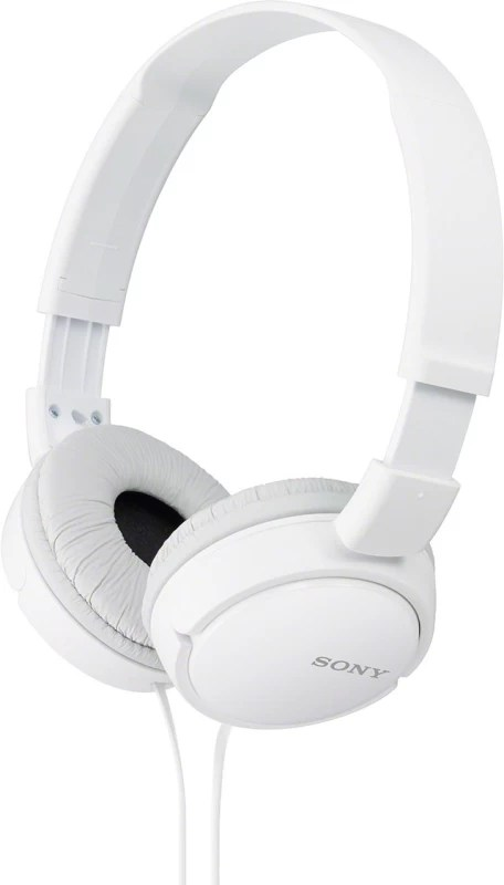 Sony ZX110A Wired Headphone(White, Over the Ear)