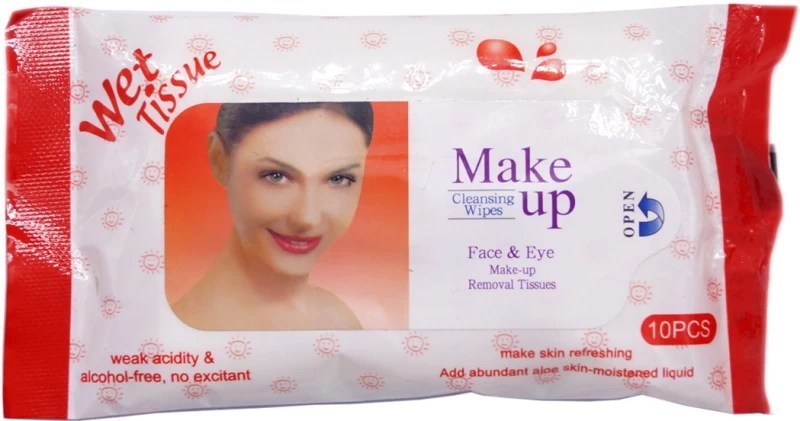One Personal Care Face & Eye Cosmetic Cleansing Wipes RED (10 Cosmetic Pare Towelettes) | Makeup Remover(20 g)