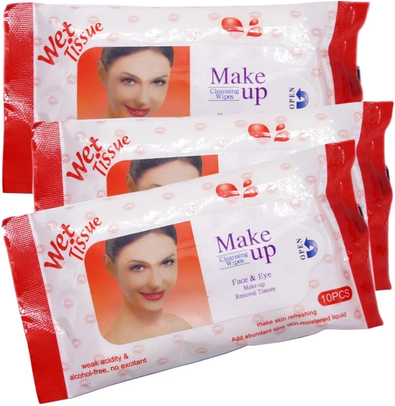 One Personal Care Face & Eye Cosmetic Cleansing Wipes RED (30 Cosmetic Pare Towelettes) | Makeup Remover(60 g)