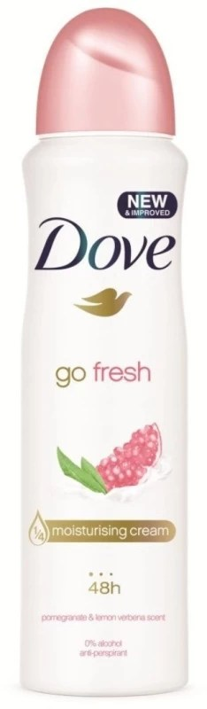 Dove Go Fresh Pomegranate & Lemon Verbena scent Deodorant Deodorant Spray - For Men & Women(150 ml)