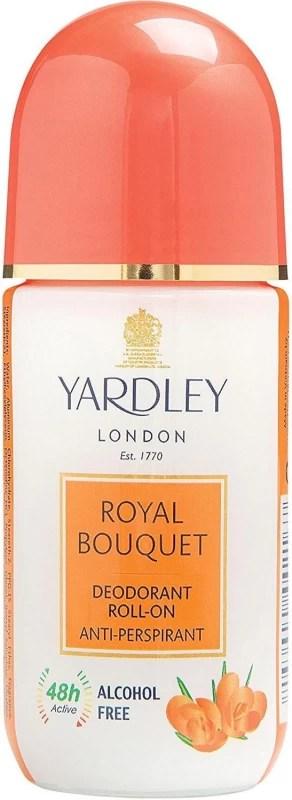 Yardley London Royal Bouquet Deodorant Roll-on Anti-perspirant - 50ml Deodorant Stick - For Men & Women(50 ml)