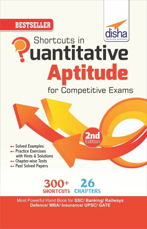 Shortcuts in Quantitative Aptitude for Competitive Exams 2nd Edition(English, Paperback, Disha Experts)