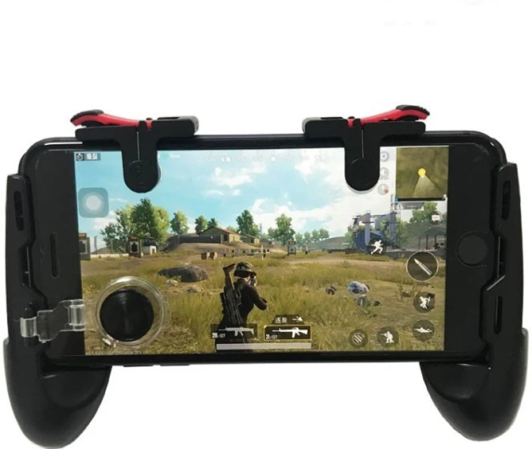 RPM Euro Games PUBG Controller Mobile Game Trigger for Android, Apple. L1R1 Fire and Aim Button PUBG Trigger Shooter Joystick Gamepad That Works On Android and IOS Phones Gaming Accessory Kit(Black, For Android, iOS)