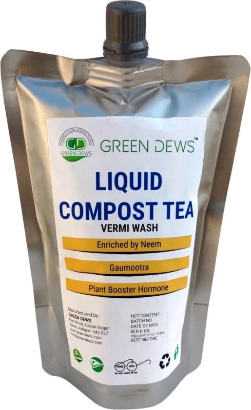 Green Dews COMPOST TEA - VERMI WASH LIQUID FERTILIZER WITH PLANT BOOSTING HORMONE GDLA0925 Soil Manure(200 ml Liquid)