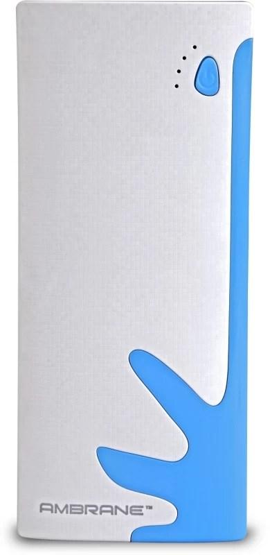 Ambrane P-1122 NA 10000 mAh Power Bank(White, Blue, Lithium-ion)