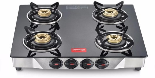 Prestige Deluxe Glass, Stainless Steel Manual Gas Stove