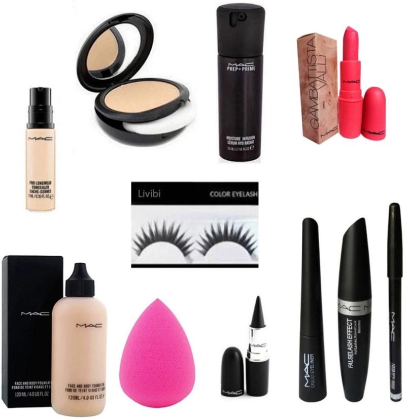 Livibi Combo Of Mac Professional Makeup Kit Set 11 In