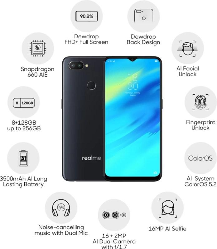 Realme 2 Pro (Black Sea, 128 GB)