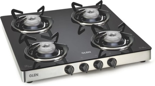GLEN Glen Cooktop 4 Burner(Gas Stoves)1043 FX Stainless Steel Manual Gas Stove