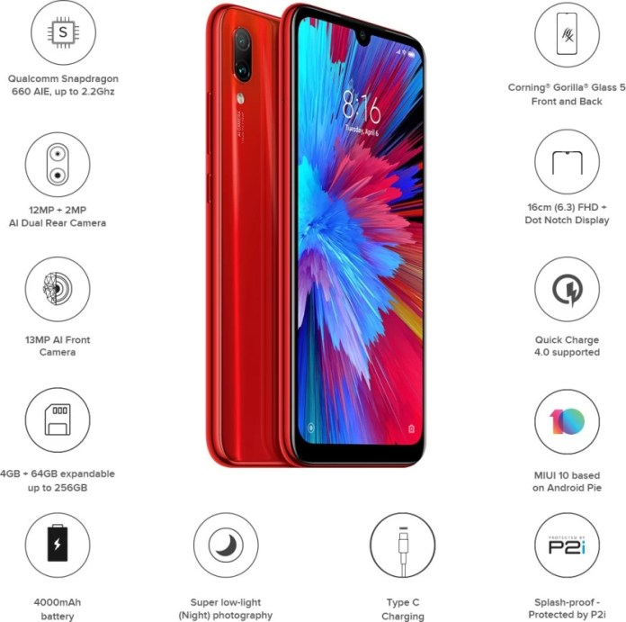 Redmi Note 7 (Ruby Red, 64 GB)