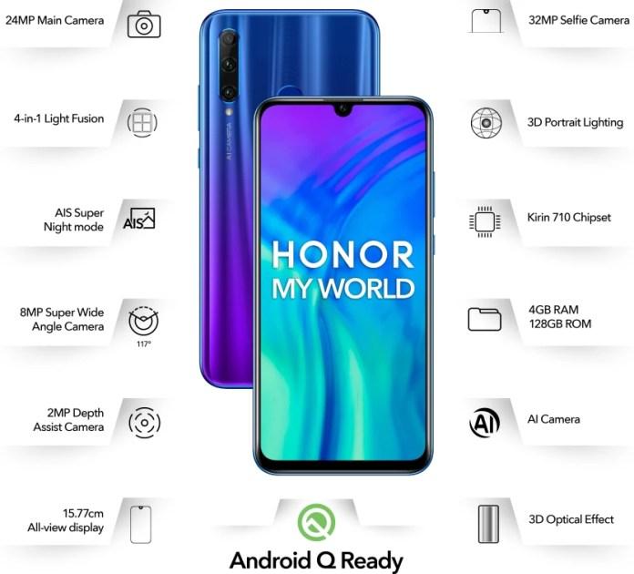 Honor 20i (Phantom Blue, 128 GB)