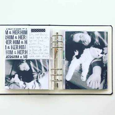 mama finch for rukristin creative team him and her 6x8 spread 01
