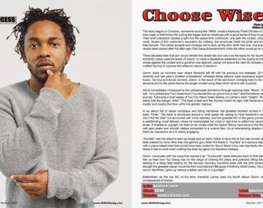 Kendrick Lamar: DAMN., Album Review