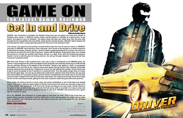 Driver: San Francisco, Game Review - RUKUS magazine