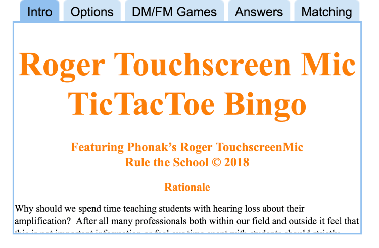 app - Roger Touchscreen Mic TicTacToe Bingo
