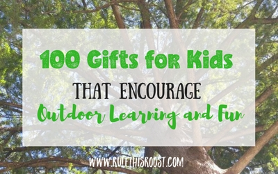 Gift guide for nature loving children. From science experiments to outdoor games, these presents will be perfect for any boy or girl. 100 Gifts for Kids That Encourage Outdoor Learning and Fun. #gifts #giftguide #presents