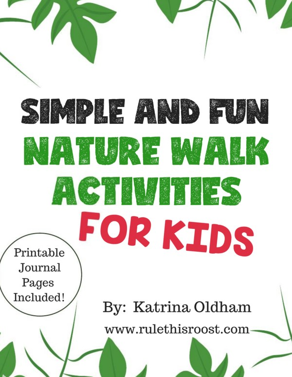nature walk activities for kids journal sheets ebook