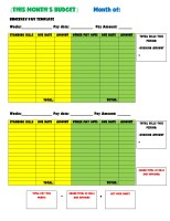 Biweekly Pay Monthly Budget Template