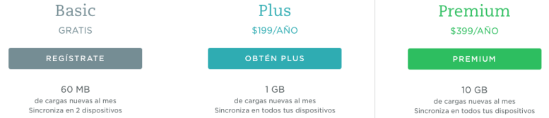 Versiones_Evernote