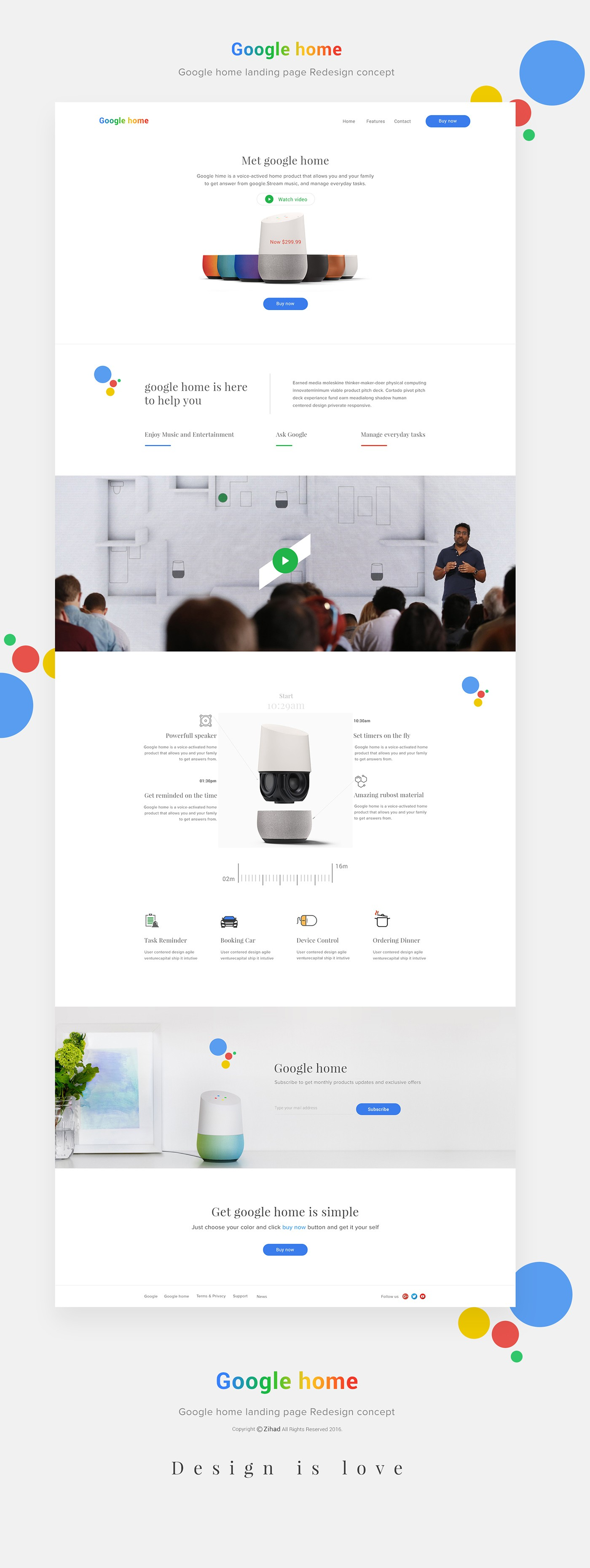 Google home landing page Redesign concept on Behance
