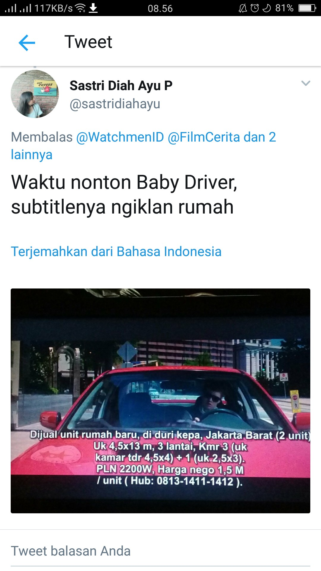 another example of subtitle sudah mulai