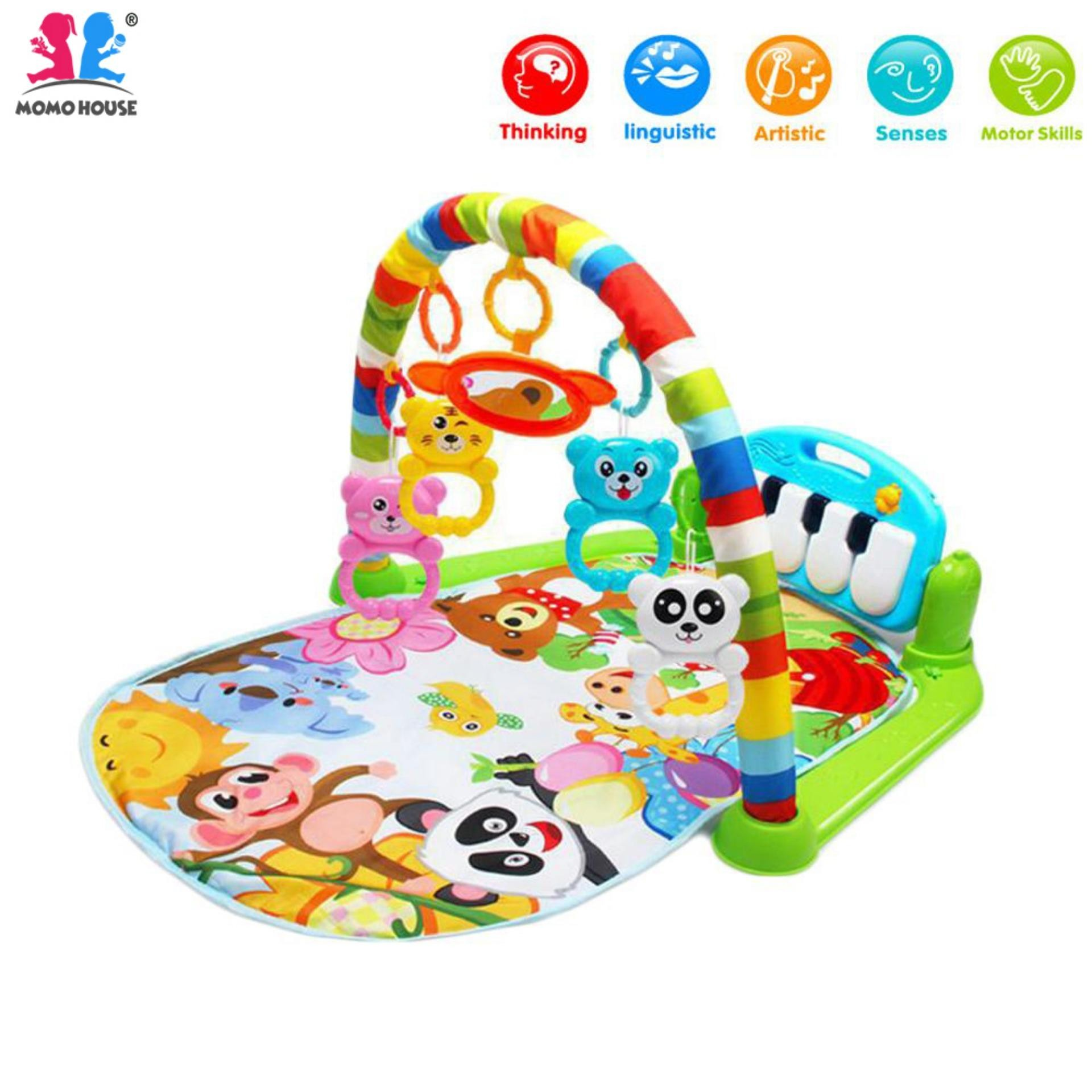 MOMO House Baby Toddler Playgym Playmat Play Gym With Music & Lights Keyboard Version