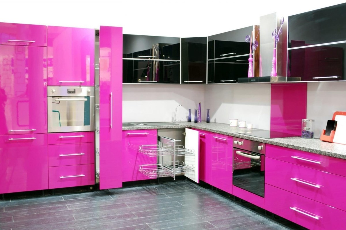 Gambar Keramik Dapur Modern Kitchen Modern Pink Kitchen Old Fashioned Fireplace Built In Oven