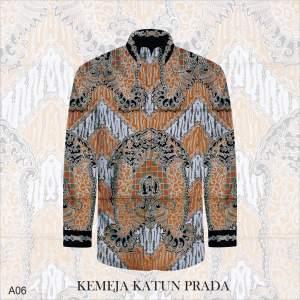 Kain Batik Tulis Bahan Katun Satin Prada A06