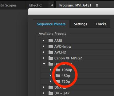 premiere sequence preset