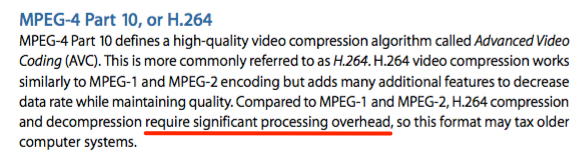 fcp7 manual H264