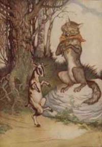 Srigala dan Anak Kambing