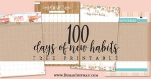 Free Printable: 100 Days of New Habits