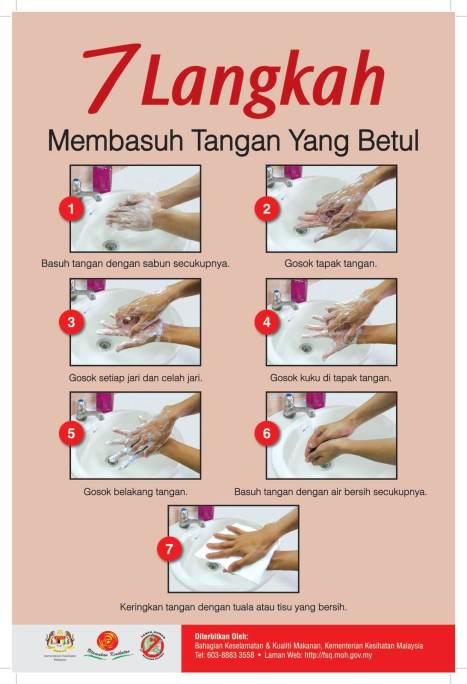 cara membasuh tangan yang betul