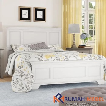 Tempat Tidur Dari Kayu Minimalis Putih