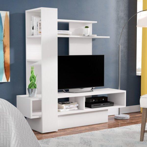 Bufet TV Jati Minimalis Modern Maloy