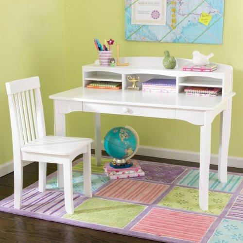 Meja Belajar Anak Putih Avalon