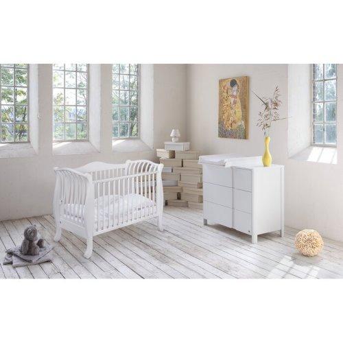Set Tempat Tidur Bayi Klasik Putih