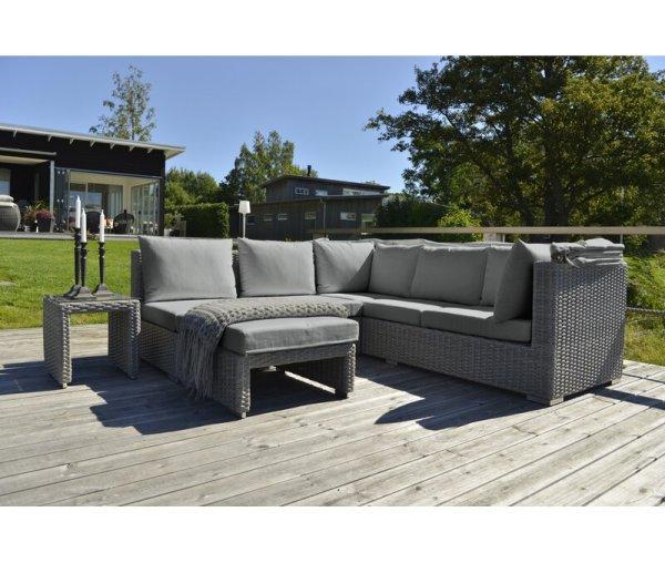 Sofa Sudut Rotan Minimalis Ilyas