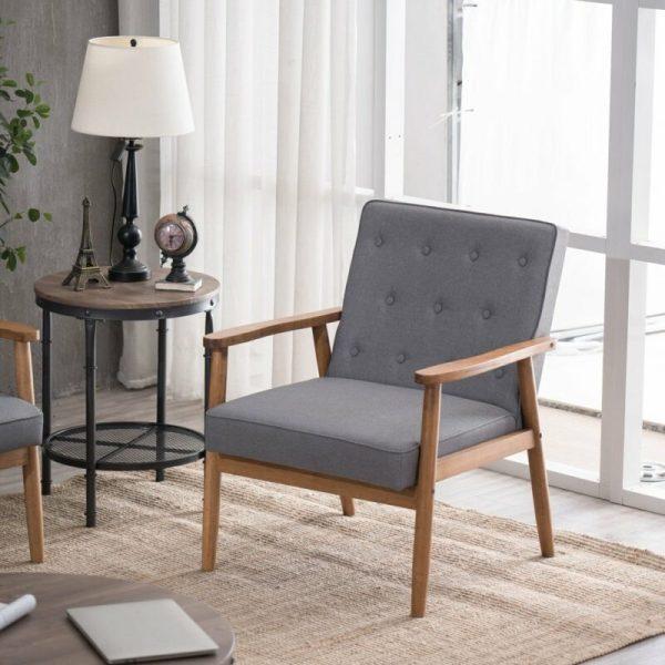 Kursi Sofa Retro Modern Grey