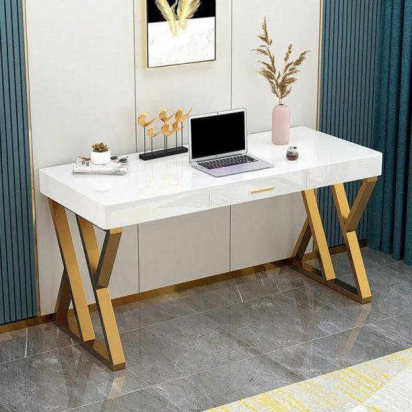 Meja Kantor Stainless Modern White 39
