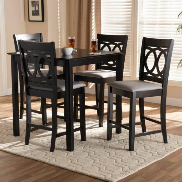 Set Meja Bar Modern Upholstered