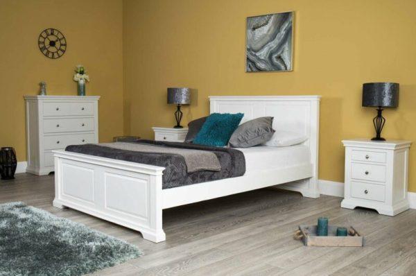 Tempat Tidur Minimalis Westcott White Queen