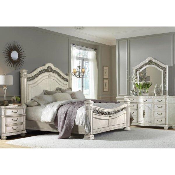 Set Kamar Tidur Mewah Putih Klasik Zigler