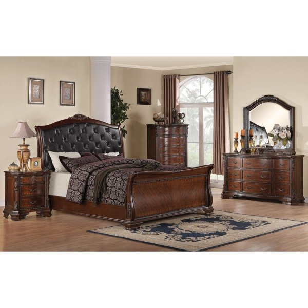 Set Tempat Tidur Jati Mewah Klasik Farington