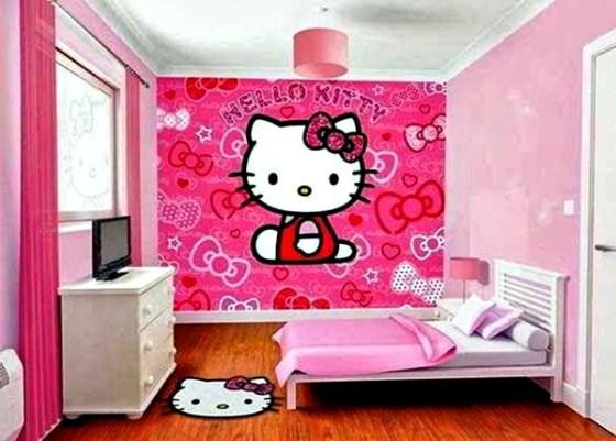 Contoh Motif Wallpaper Kamar Tidur Remaja Perempuan 2 - 15 Motif Wallpaper Kamar Tidur Remaja yang Keren